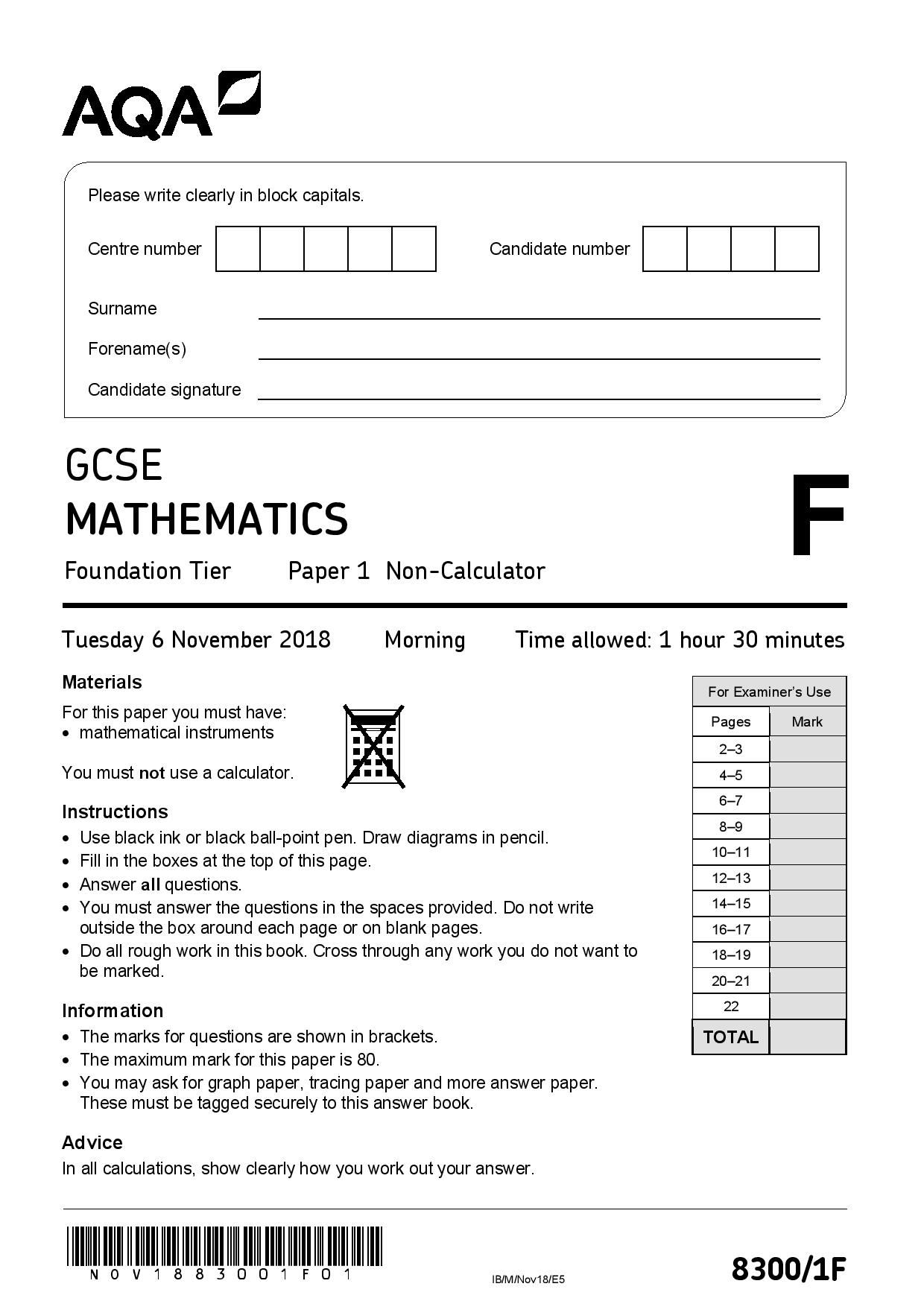 AQA Foundation paper1 2018 page 001
