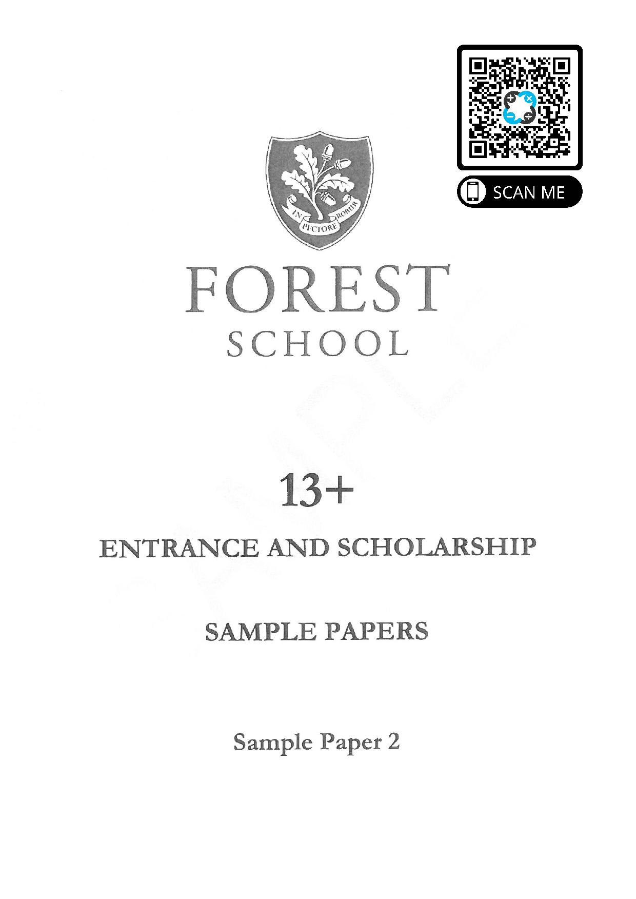 Forest School 13 Plus Maths Sample Paper 2 page 001