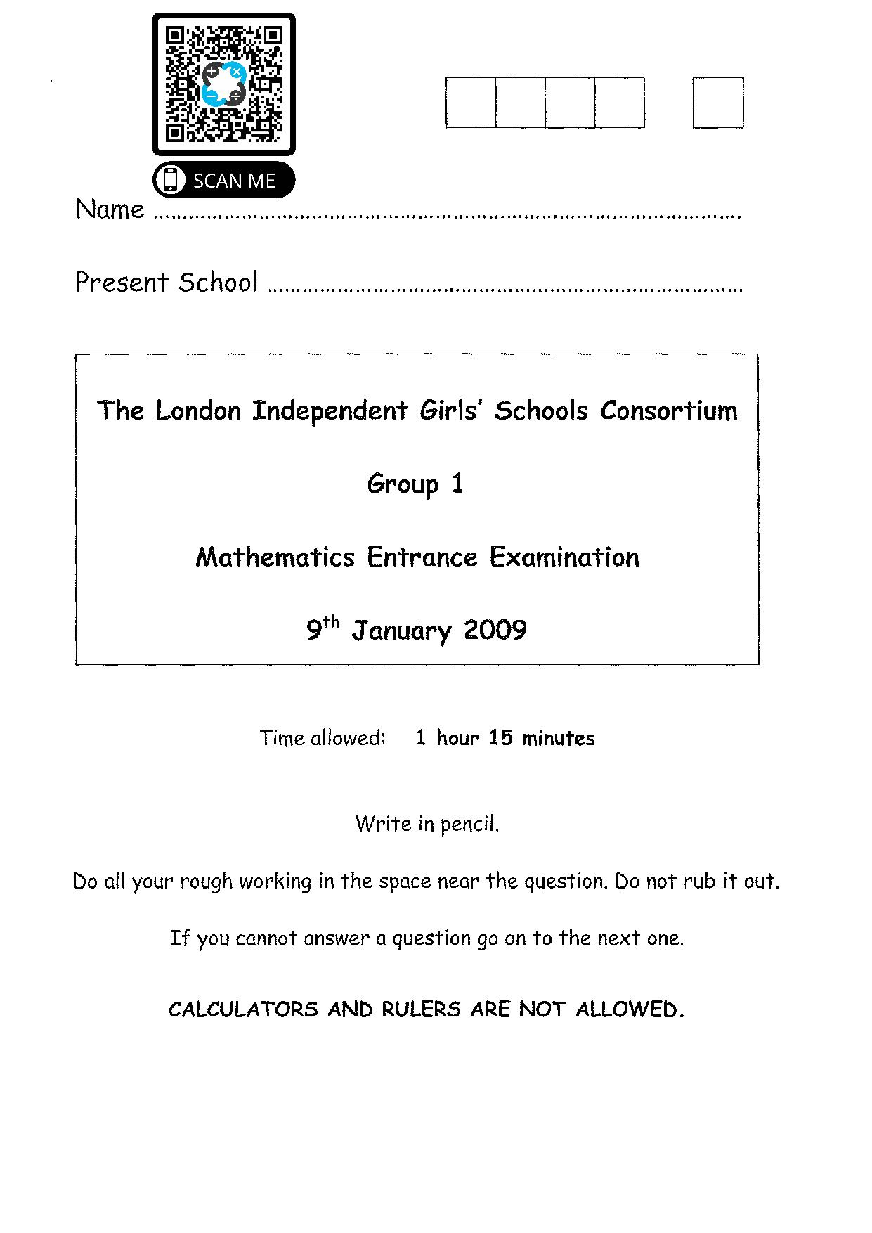 Group 1 Maths 2009 1 page 001