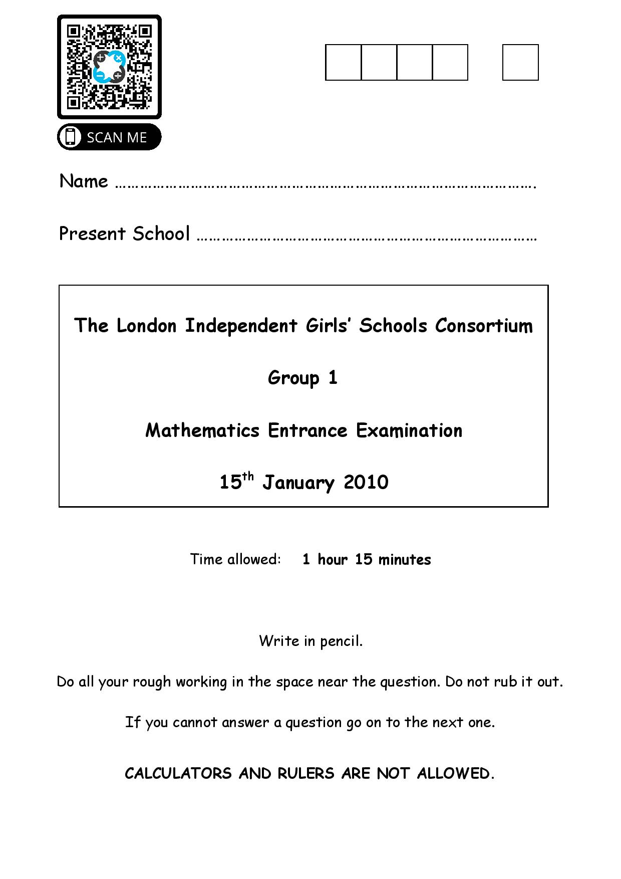 Group 1 Maths 2010 page 001