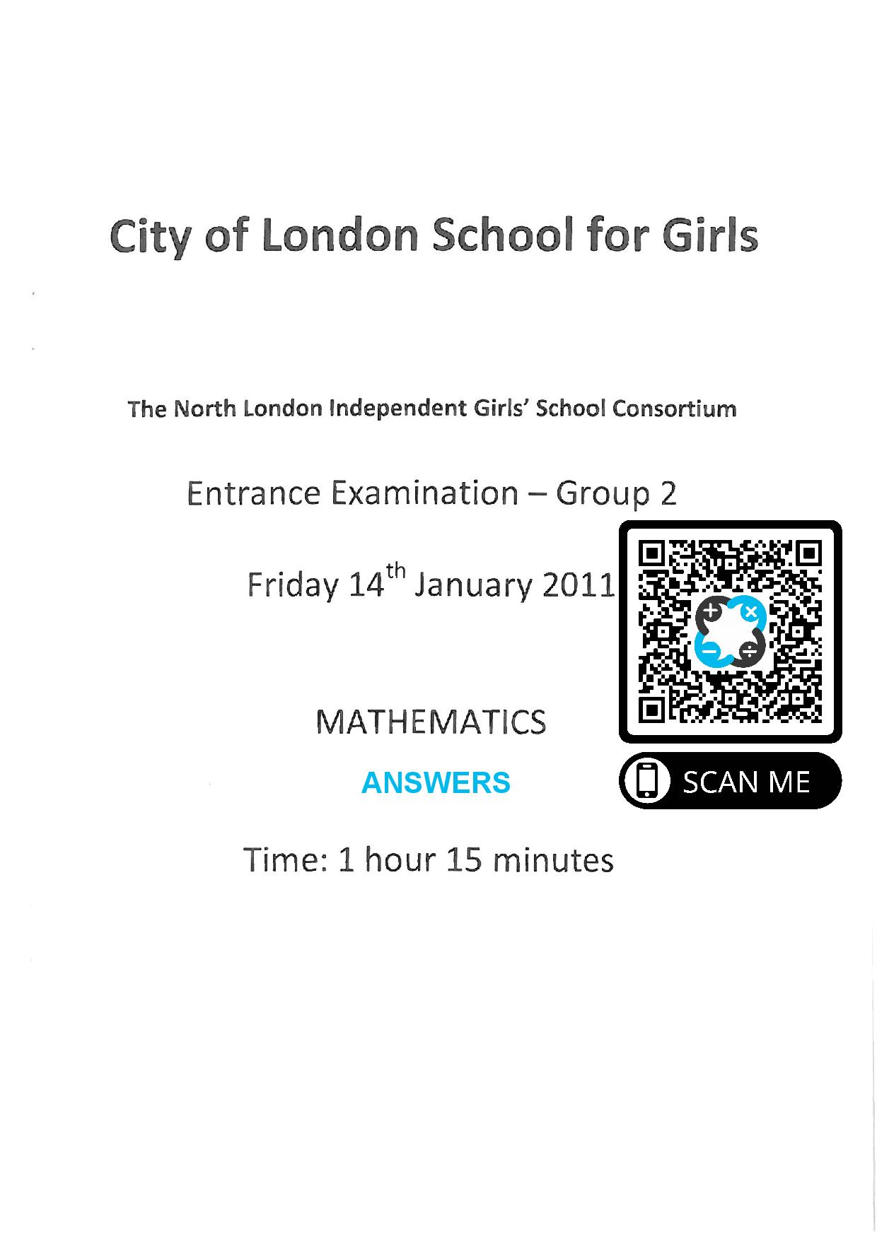Group 2 Maths 2011 page 001
