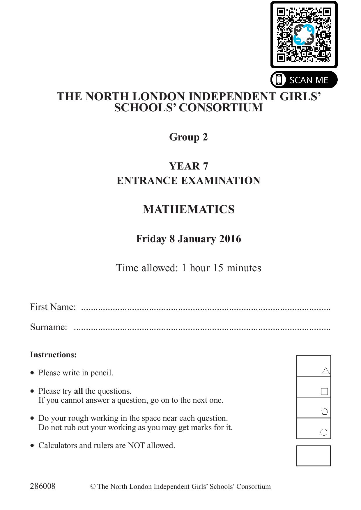 Group 2 Maths 2016 page 001