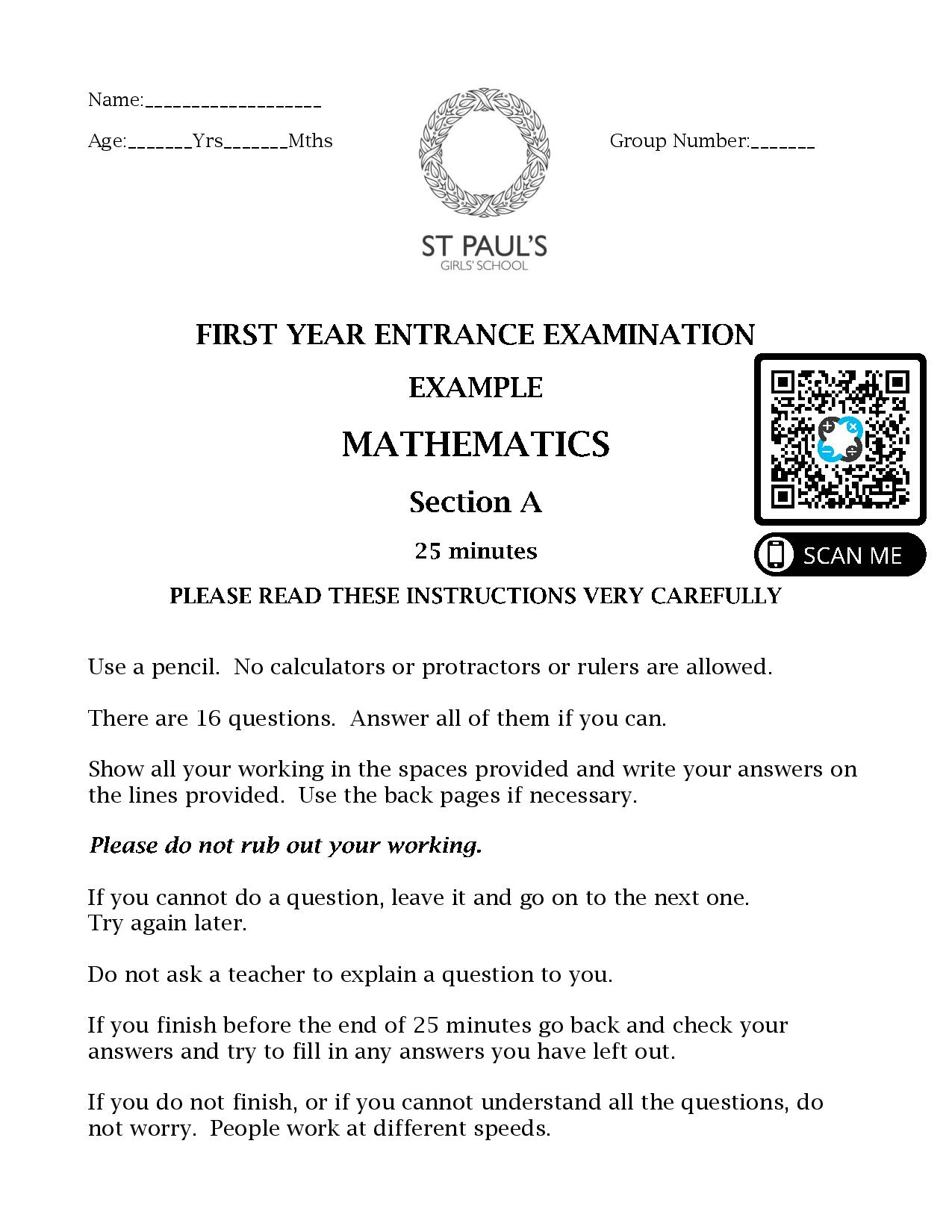 Sample Maths Paper 1 2017 page 001